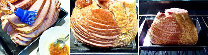 Baked Ham with Marmalade Almond Crust-5