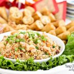 Yang Chow Fried Rice and Egg Roll Platter