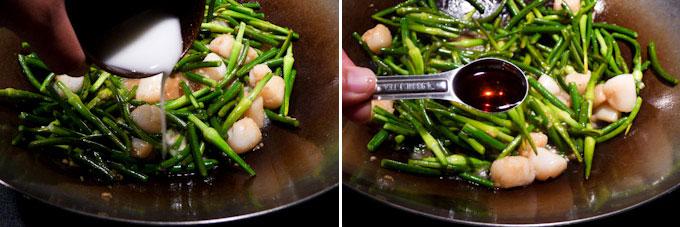 Garlic Scape and Scallop Stir Fry-11