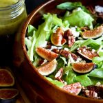 Fresh Fig Lettuce Salad with Poppy Seed Dressing