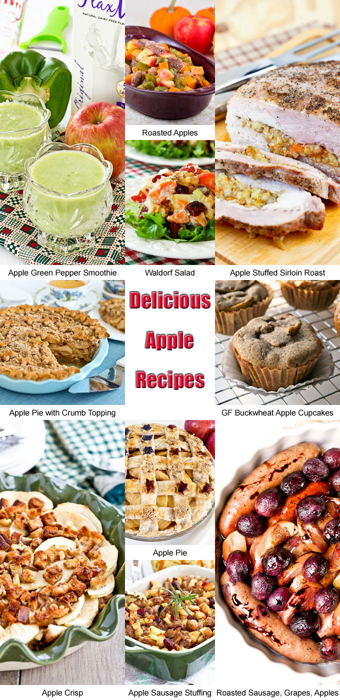 Delicious Apple Recipes to get you in the mood for fall/autumn. Choose from smoothies, salads, side dishes, main dishes, and desserts. | RotiNRice.com
