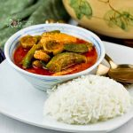 Fish Curry with Okra and Eggplant